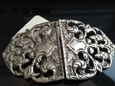 Silver Nurses Buckle 1964 . Very Ornate