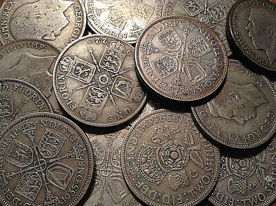 1920 To 1946 Uk Great Britain .500 Silver Florin Buy 1 Or More Its Free S/h!