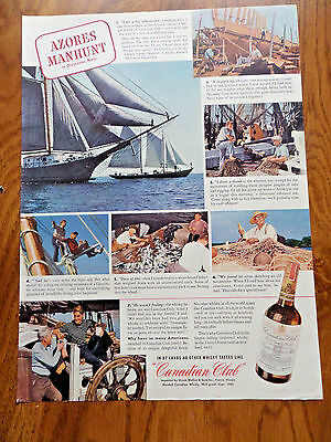 1942 Canadian Club Whiskey Ad Gloucester Mass 1942 Camel Cigarettes Ad Paratroop