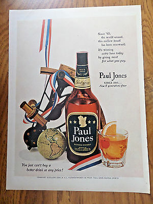 1953 Paul Jones Whiskey Ad