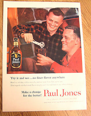 1955 Paul Jones Whiskey Ad -