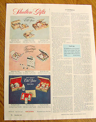 1947 Old Spice by Shulton Ad Shulton Gifts