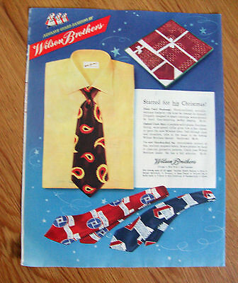 1947 Wilson Brothers Ties Shirt Ad  Starred for his Christmas