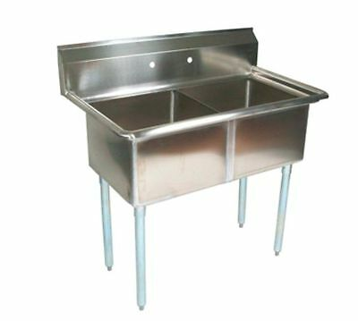 Sink, (2) Two Compartment, John Boos E2S8-1620-12-X