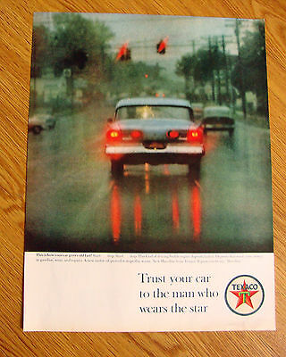 1963 Texaco Oil Ad This is how Your Car Grows Old Fast Trust your Car to the Man