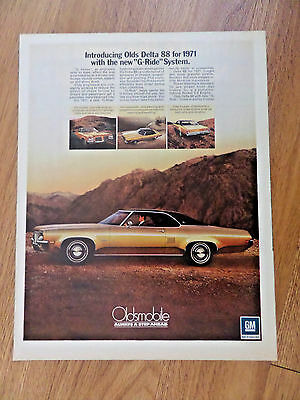 1971 Oldsmobile Olds Delta 88 Ad  The new G-Ride System