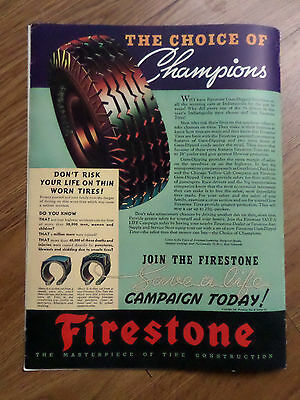 1937 Firestone Tire Ad  The Choice of Champions