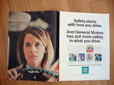 1968 GM General Motors Ad  Safety Starts With How you Drive
