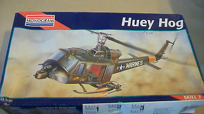 Huey Hog Helicopter Plastic Model Kit 1:48 Monogram #5201 From 1995