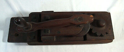 Large Heavy Antique Wooden Wall Hanging Crimper Tool