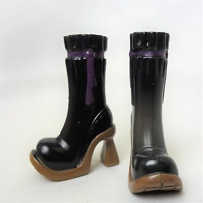 My Scene Barbie Doll Black & Brown Boots