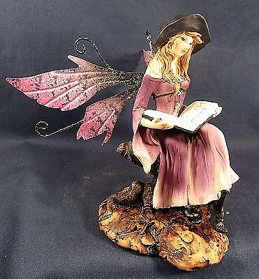 Witch Fairy with Her Book of Spells Mythical Fantasy decor Figurine