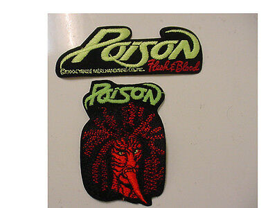 lot 2 POISON  PATCH EMBROIDERED 90'S METAL-IRON ON PATCH-licensed-flesh & blood