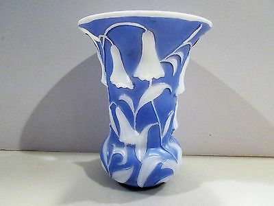 "Phoenix Consolidated Glass 7"" Tall Bluebell Vase"