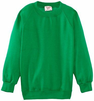 (TG. C44 IN- UK) Verde (Emerald) Charles Kirk Coolflow - Felpa, colletto tondo,