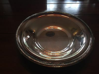 """Vintage FB Rogers Silver Plate Large Serving Bowl Dish 12"""" Beautiful Patina"""