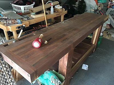 Solid Walnut Custom Roubo Workbench, Benchcrafted Hardware