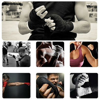 Professional Hand Wraps Boxing Kickboxing Inner Gloves Muay Thai Cotton Bandages