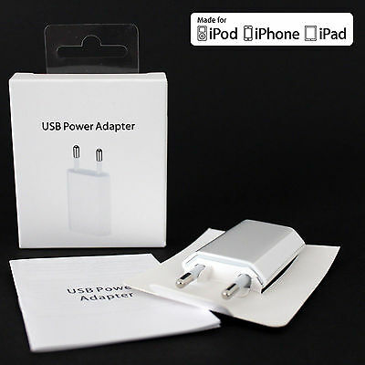 New EU Euro European Wall Charger + USB Data Cable for iPhone 6 5 5C 5S