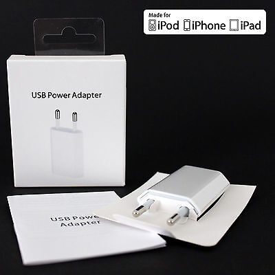 5W Wall Charger 5V 1A Power Adapter EU plug For iPhone 7/6 iPod