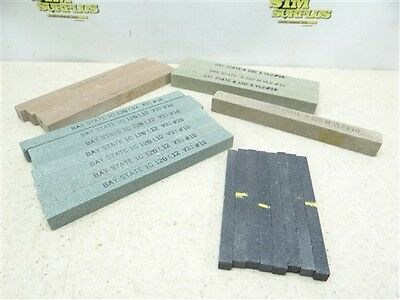 "New Assorted Lot Of 23 Bay State Abrasive Sticks 5/16"" X 4"" To 5/8"" X 6"""