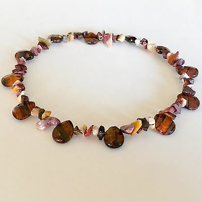 Beaded Memory Wire Choker/Short Necklace