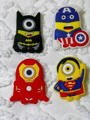 C 575 US Seller  Super Hero Minions Plug Shoe Charms Will Also Fit Jibitz,Croc