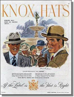 1945 Men who do things were Knox hats - Print Ad