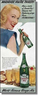 1949 Blonde & Red Lipstick - Canada Dry Ginger Ale Ad