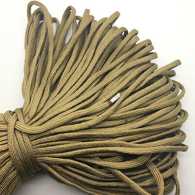 10yds Gold Paracord Rope 7 strand Parachute Cord CAMPING HiKING