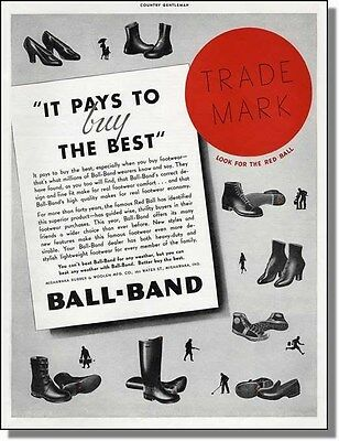 1936 Red Ball-Band Shoes Print-Ad