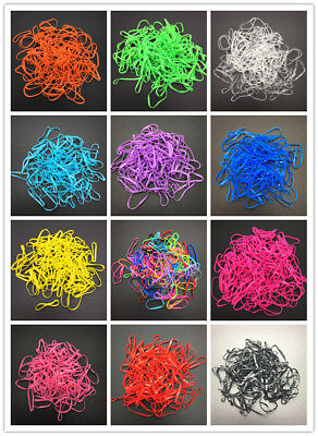 200pcs Clear Ponytail Elastic Rubber Band Hair Ties Ropes Rings Pick color