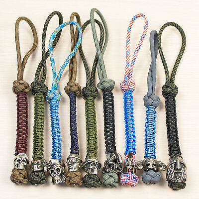 Cool Custom Paracord Lanyard Keychain, Key Fob - Over 40 Artistic Beads Designs