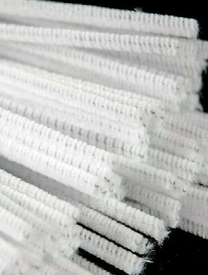 Regular Pipe Cleaners White Pack of 100 CT4061 150 mm x 4 mm
