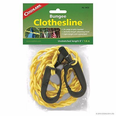 Coghlan's Clothes Line Bungee Pegless Washing Line Camping Lightweight Coghlans