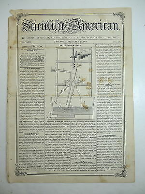 HORSE CRAMPON, Ore Washer, Car Coupler, New Breadmaking Method, Old Article 1858