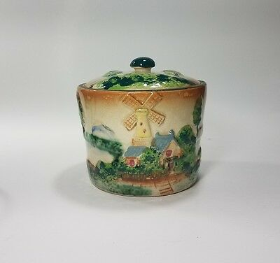 Antique Windmill Biscuit Jar -Beautiful