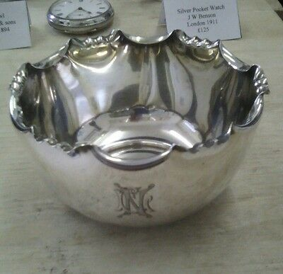 antique solid silver bowl