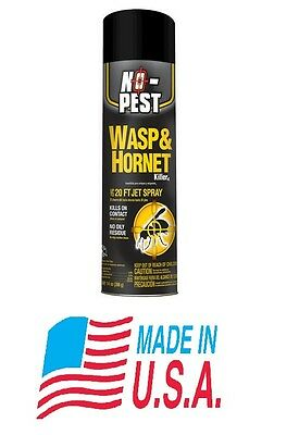 No-Pest Insect Wasp & Hornet Killer 14oz. Aerosol Non-Staining 20' Jet Spray NEW