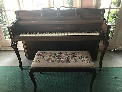 Antique Chickering & Sons 1948 Upright Piano