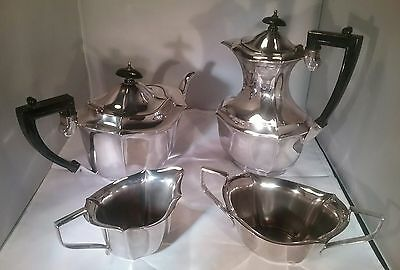 Antique  silver plated 4 piece tea set Francis Howard Sheffield