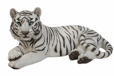 White Bengal Tiger Statue New Stunning Life-Like Realistic Home Or Garden Decor