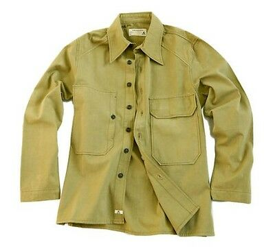 Overshirt Men's shirt- Jacket in Military Style in navy and khaki
