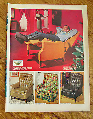 1965 TV  Stratolounger Reclining Chair by Futorian Furniture Ad