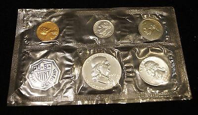 1961 Philadelphia Mint 90% Silver Proof Coin Set - 5 COINS - NO COA