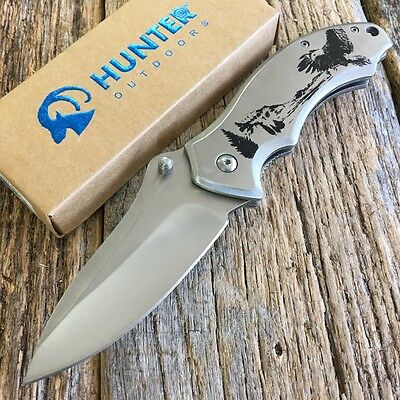 STAINLESS EAGLE Wildlife Tactical Heavy Spring Assisted Open Pocket Knife NEW-SA
