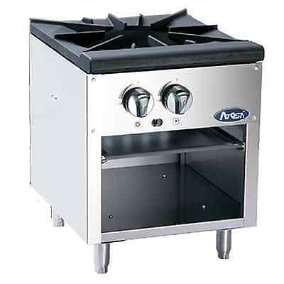 Atosa Commercial Floor Model Heavy Single Burner Gas Stock Pot Stove Atsp-18-1