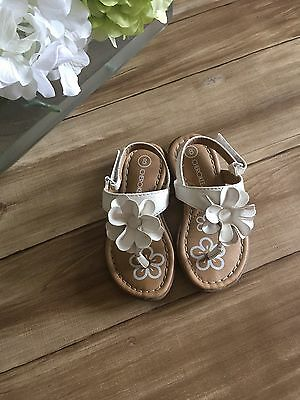 Cherokee toddler girls white sandals with flowers size 8 225 cherokee toddler girls white sandals with flowers size 8 mightylinksfo