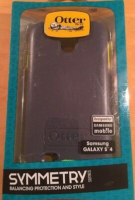 "New SAMSUNG GALAXY S4 OTTER BOX ""SYMMETRY"" Cover Case Gray Lime Green"