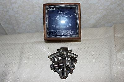 Nautical Marine United Traveling Sextant Maritime With Wooden Box